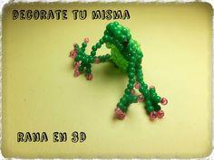 .Decorate tu misma.: Rana en 3D hecha de abalorios.