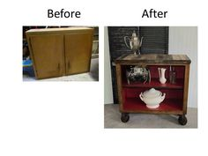 Repurpose Old Kitchen Cabinets   www.resnooze.com