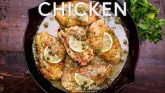Grilled Lemon Herb Mediterranean Chicken Salad - Cafe Delites Garlic Chicken, Butter Chicken, Garlic Butter, Chicken Salad, Baked Chicken, Salmon Recipes, Seafood Recipes, Chicken Recipes, Dinner Recipes