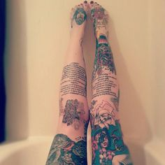 So obviously I'm not woman enough to have all these tats, but I think this is stunning on her.
