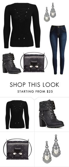 """""""Hot Fall Style"""" by robin-huebner ❤ liked on Polyvore featuring JustFab, Alexander McQueen and Kenneth Jay Lane"""