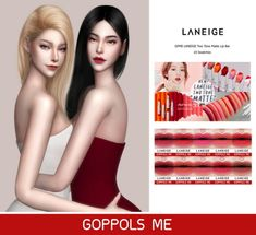 GPME Two Tone Matte Lip Bar by GOPPOLS Me for The Sims 4
