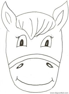 Diy printable rabbit mask diy and crafts templates and kid for Donkey face mask template