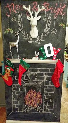 A step by step tutorial on how to make your own DIY Chalkboard Fireplace