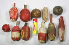 Keep your eyes open for these at garage sales.  These Old Wooden Fishing Bobbers are very neat to collect and in some areas they aren't that hard to find.  Are you a fisherman?