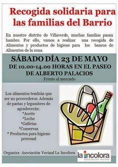 Gente de Villaverde: Recogida de alimentos solidaria