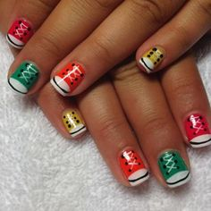 Nail Art How To: Back to School Converse Shoe Nails