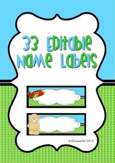 FREEBIE! 33 individual name labels - ideal for non/emergent readers.