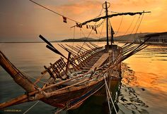 "Replica of ""Argo"", the ship of Jason & the Argonauts, at the promenade of Volos, Magnisia, Thessaly, Greece."