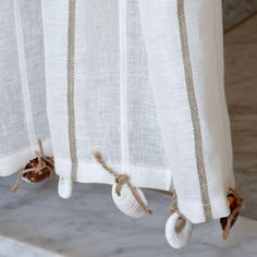 Curtain Trim - Seashell. Could do this throughout the curtain actually and it would look beautiful