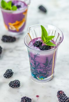 Blackberries and banana smoothie