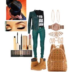 Thuggish Friday, Who's Styling Today. by mrkr-lawson on Polyvore featuring polyvore fashion style Balmain Timberland MCM GUESS Repossi Rosa de la Cruz Yves Saint Laurent Stila Kevyn Aucoin