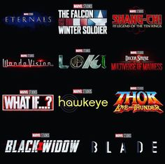 These are all the upcoming movies for Marvel Phase 4 that where officially revealed at SDCC (San Diego Comic Con) So t. Marvel E Dc, Marvel Funny, Captain Marvel, Marvel Avengers, Marvel News, Marvel Jokes, Captain America, Thor, Avengers