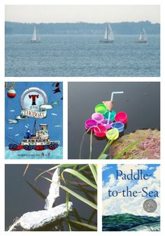 {Fun with Boats} -- explore some science with the kids and create your own boats!  Also includes a few great books about boats that kids will love.