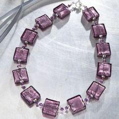 Purple Murano Glass Necklace