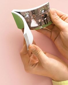 Turn a 10- to 30- second digital video clip into a Memory Flip Book. Possible wedding invitations, favors, or thank yous.