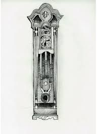 grandfather clock tattoo - Google Search