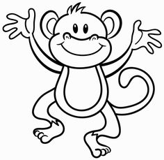 monkey coloring page photograph Cool