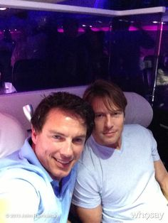 "John Barrowman's photo ""Look who is sitting next to me""!"