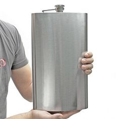 128 oz. flask. Gotta love oversized objects! Make me laugh every time!