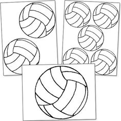 Here's a printable volleyball template for you. I used this printable volleyball template to create signs to cheer on my cousin at her high school Volleyball tournament. Volleyball Snacks, Volleyball Training, Volleyball Locker Signs, Volleyball Locker Decorations, Volleyball Crafts, Volleyball Team Gifts, Volleyball Tournaments, Volleyball Workouts, Coaching Volleyball