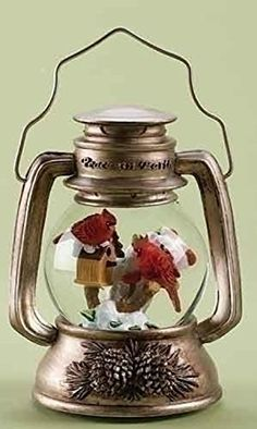 10 Musical Cardinal Bird Lantern Christmas Snow Globe Glitterdome Decoration -- To view further for this item, visit the image link.