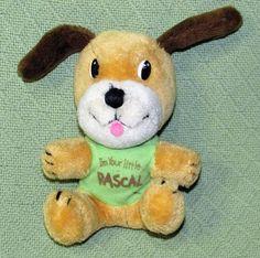 "Vintage DAKIN 1977 Plush I'm Your Little Rascal 8"" Plush Stuffed Green Shirt Toy #Dakin"