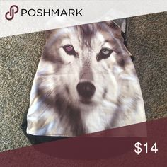 Wolf tank top The front is a silky texture and is one of my favorite tops. Wolfs are my favorite animal one clothing Tops Tank Tops