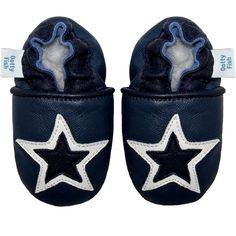 Navy Star Boys Baby Shoes