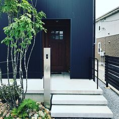 House Entrance, Garage Doors, Exterior, Wall, Outdoor Decor, Home Decor, Porch Roof, Stairways, Walls