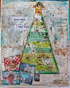Love The Journey: Christmas Tree - Mixed Media. With instructions