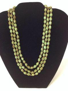 "Scottish Agate Flapper Necklace, 54"" Long!"