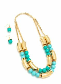 Mint Beaded Layered Necklace Set!!!  Email for Invoice mycourageuxjewelry@gmail.com #necklace #jewelry #accessories #fashion #website #mycourageuxjewelry #business #optimise #ship #order #edgy