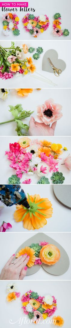 Make flower letters for your wedding signage. Great as a backdrop for the wedding party table or a photo booth! This floral monogram DIY is SO easy! #fauxflowers Designer: Emmy-Ray Design Studio Photographer: Jana Marie