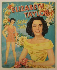 Original Paper DOLLS ELIZABETH Taylor 1950 Whitman by vintagevasso
