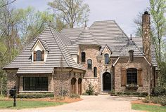 New house plans rustic french country ideas Luxury House Plans, Best House Plans, Dream House Plans, House Floor Plans, Luxury Houses, Castle House Plans, Brick House Plans, Brick Houses, Rustic French Country