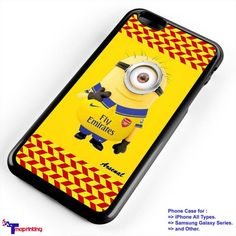 minion arsenal fc - Personalized iPhone 7 Case, iPhone 6/6S Plus, 5 5S SE, 7S Plus, Samsung Galaxy S5 S6 S7 S8 Case, and Other