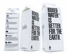 Boxed Water on Packaging of the World - Creative Package Design Gallery