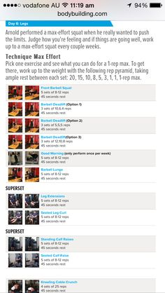 Arnold schwarzenegger blueprint workout day 5 gym workouts arnold schwarzenegger workout legs day 6 malvernweather Choice Image