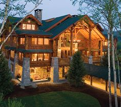 Lake Placid calls my name and I see a great lodge like this.  I want to canoe and sit by the lake and just dream.