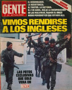 Portada de la revista Gente, Argentina 1982, en plena Guerra de las Malvinas
