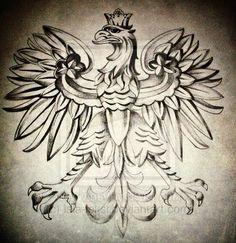 Polish Coat of Arms tattoo idea? Polish Eagle Tattoo, Polish Tattoos, Polish Symbols, German Symbols, Polish Recipes, Polish Food, Learn Polish, Eagle Drawing, Eagle Art
