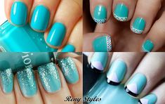 Best nail turquoise color for you - Reny styles