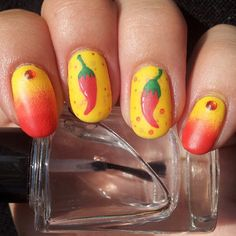Chili Pepper Nails