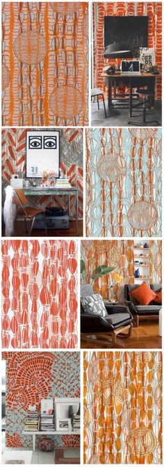 Tribal decoration: a wallpaper collection Interior Wallpaper, A N Wallpaper, Leeds College Of Art, Tribal Fusion, Blog Deco, Deco Design, Quilt Bedding, Cool Beds, Handmade Crafts