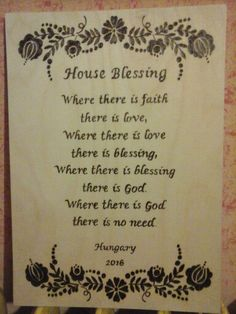 Hàzi àldàs House Blessing, Wood Burning, Blessed, Faith, Calligraphy, Lettering, Loyalty, Calligraphy Art, Woodburning