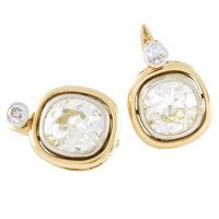 1STDIBS.COM Jewelry & Watches - Important Pair of Cushion-Shaped Diamond Earrings - Morelle Davidson vintage love!