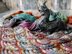 Jewel Dragon (patchwork knitting).