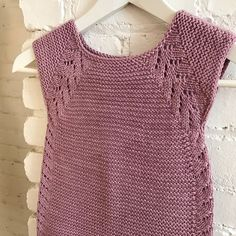 New store sample! Lil' Rosebud Dress / Tunic by @ogeknitweardesigns knit up with @tanisfiberarts PureWash DK in the Rose Grey colourway ✨. A beautifully simple and perfect yarn and pattern pairing - great stitch definition and so soft. The 12-month size left us with quite a bit of the second skein - enough for a matching hat or bonnet. Details can be found under the Espace Tricot project page on Ravelry and, of course, Purewash DK can be found in our webstore . #tanisfiberarts #ogeknitwea...
