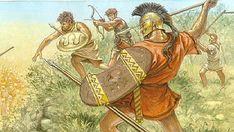 hoplite adalah tentara warga negara-kota Yunani kuno-negara. Hoplites terutama bersenjata seperti tombak-pria dan berjuang dalam formasi bar... Ancient Greek Art, Ancient Greece, Ancient History, Greco Persian Wars, Fantasy Faction, Roman History, Greek History, Greek Soldier, Greek Warrior